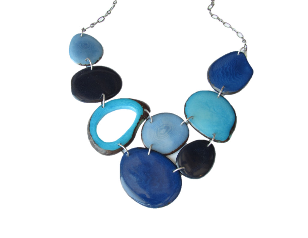 blue statement necklace for fall 2015 sela designs